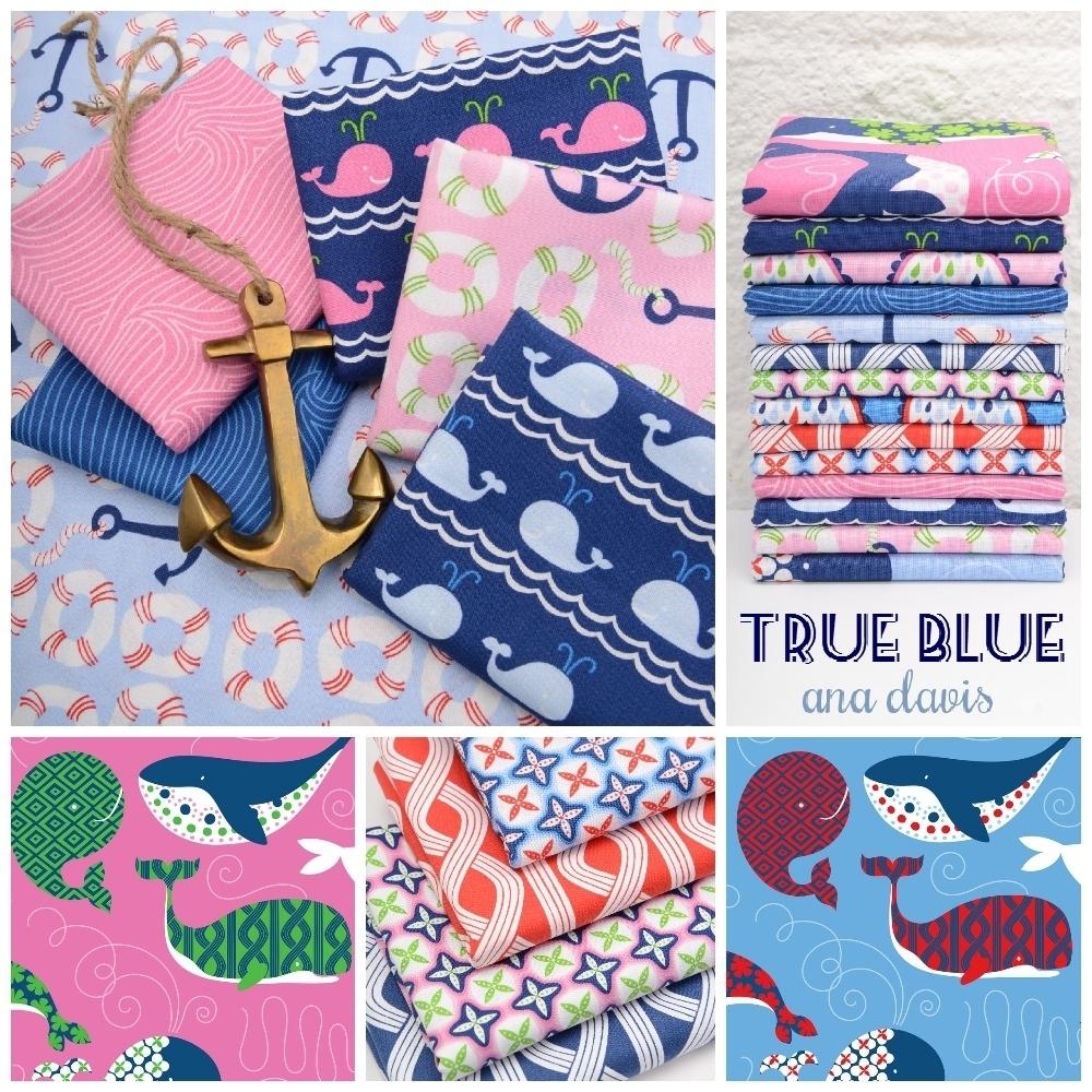 True Blue Fabric Poster