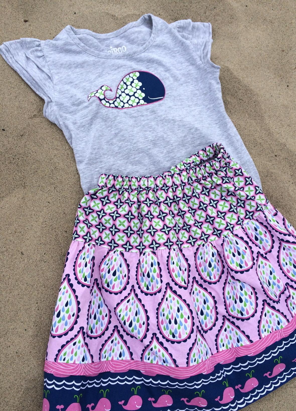 true blue blend fabric skirt