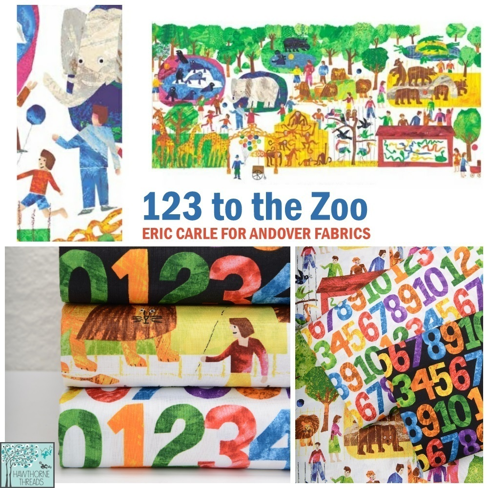 123 Zoo Fabric Poster