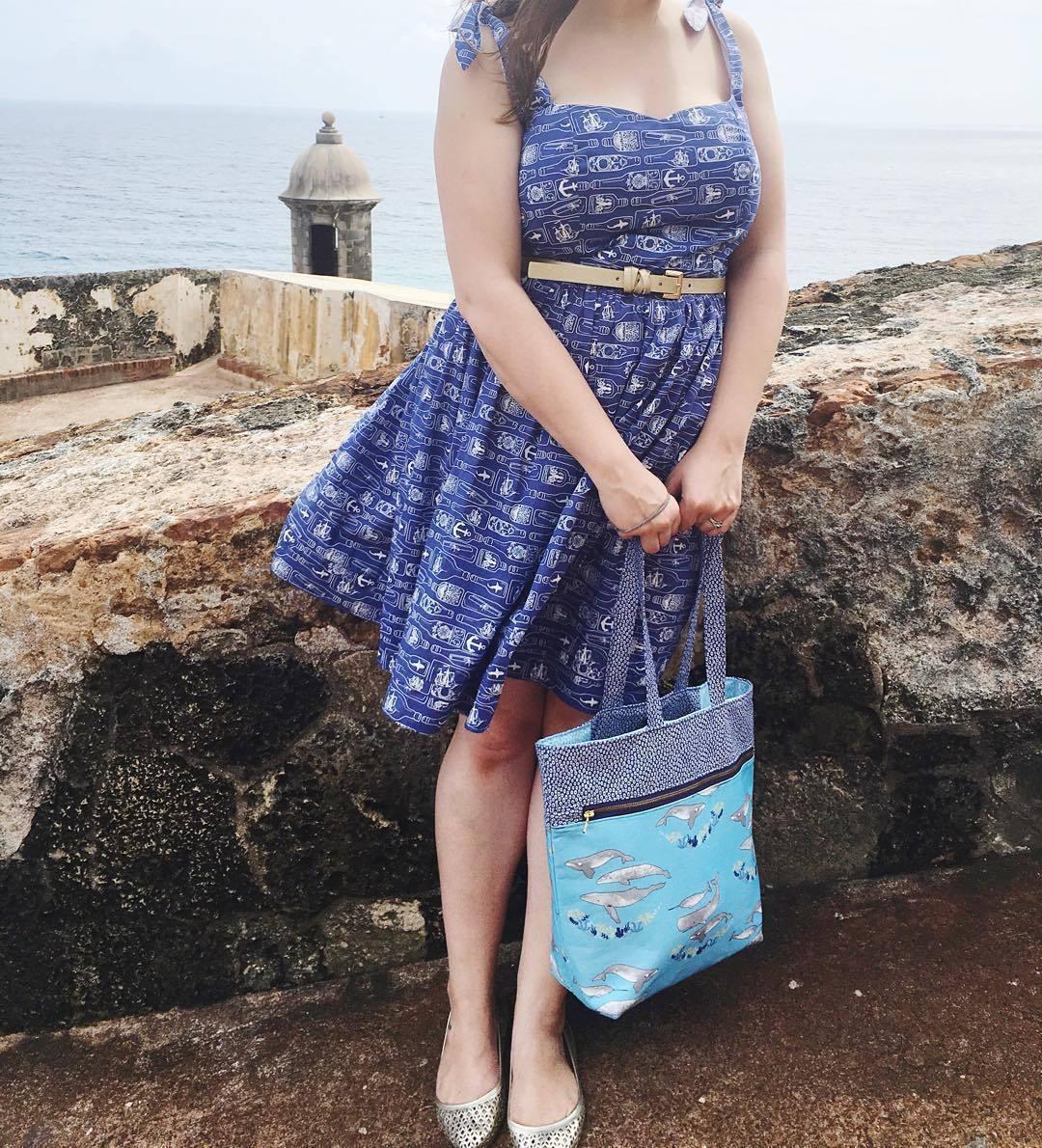 Mariner Fabric Dress and Tote