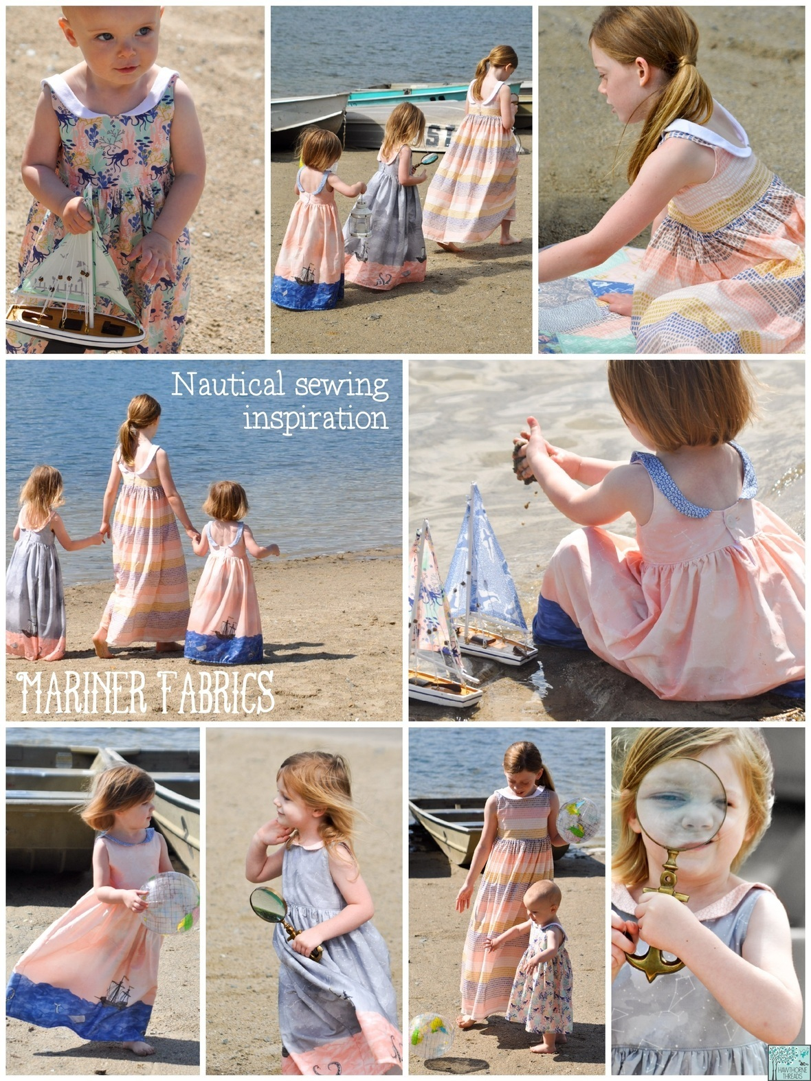 Mariner Fabric Nautical Sewing Inspiration with text
