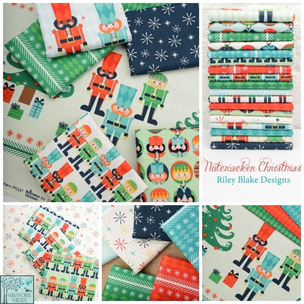 Nutcracker Christmas Fabric Poster