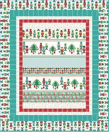 Nutcracker Christmas Pattern Cover 72dpi