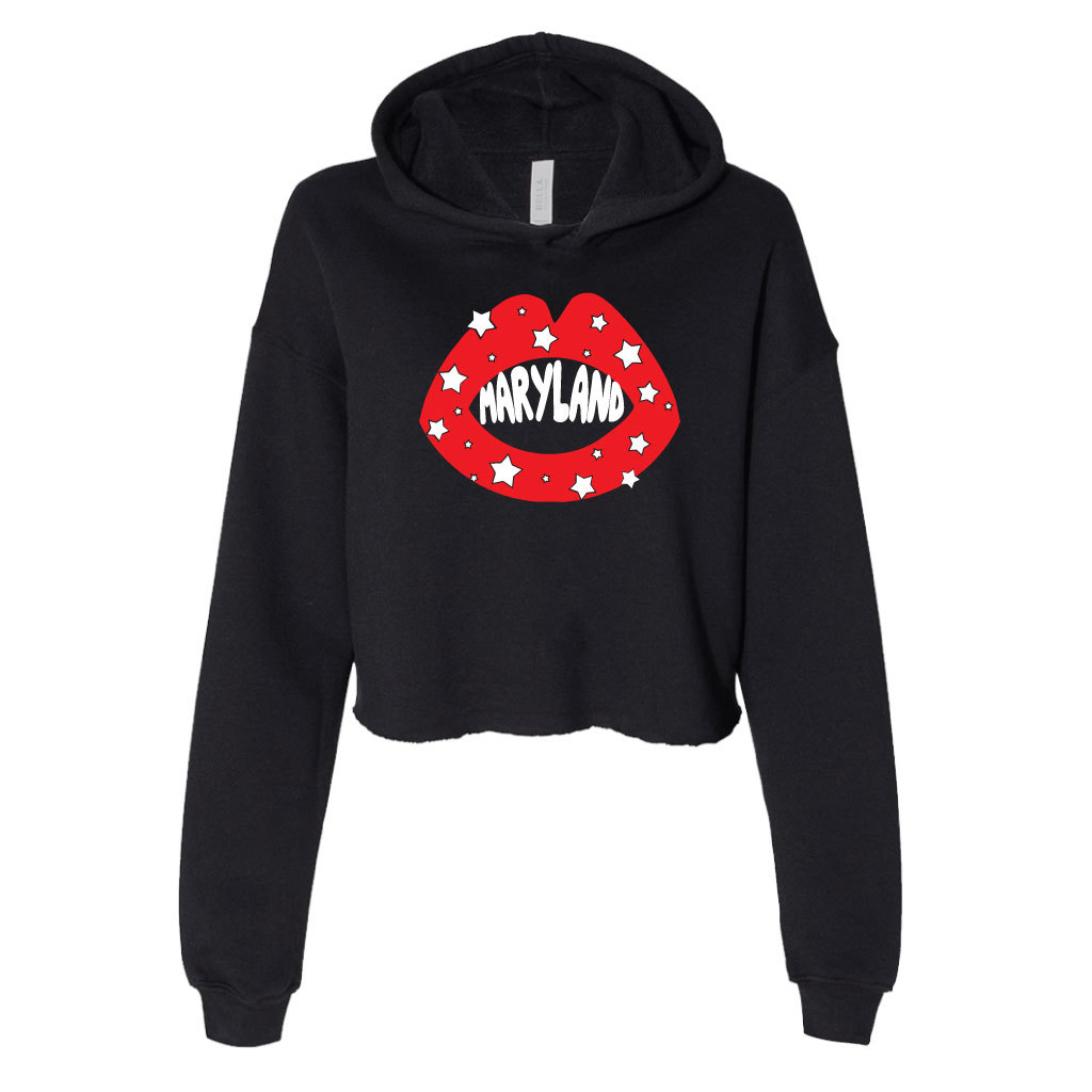 Maryland-Star-Lips-Cropped-Hoodie