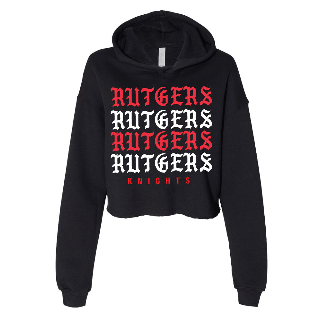 Rutgers-Gothic-Repeat-Cropped-Hoodie