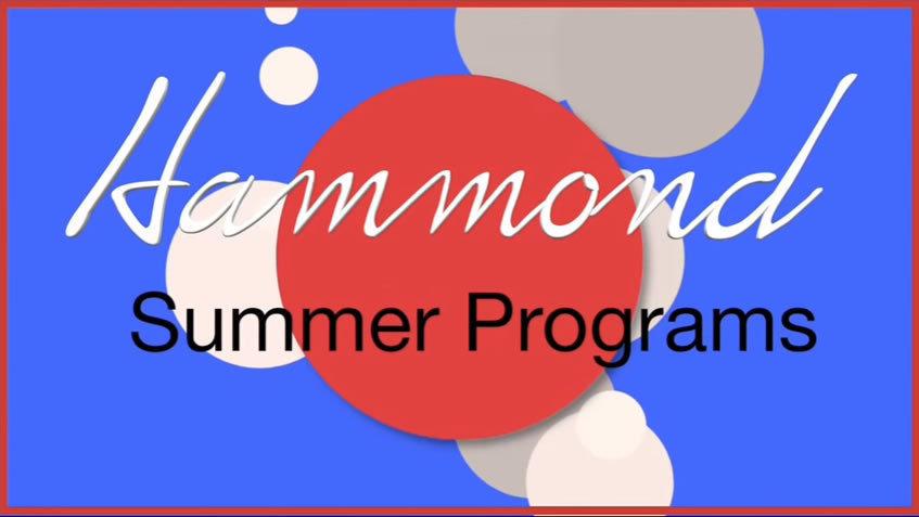 Hammond Summer Program You Tube