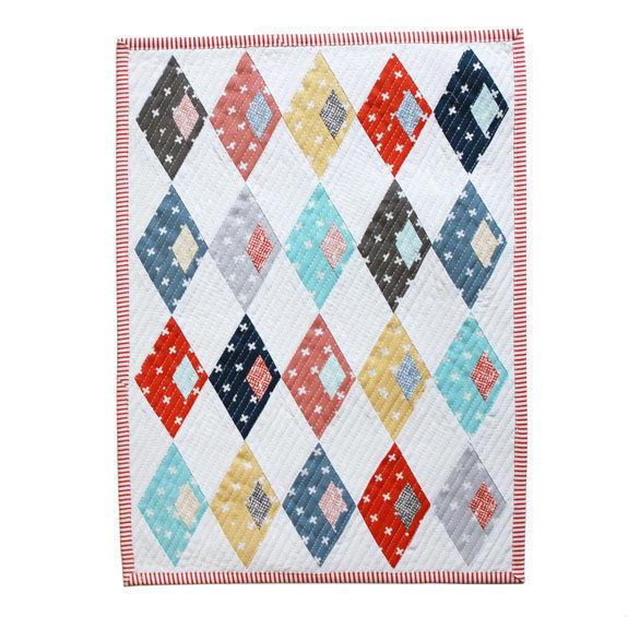 Sassafrass Lane mini quilt from DS blog