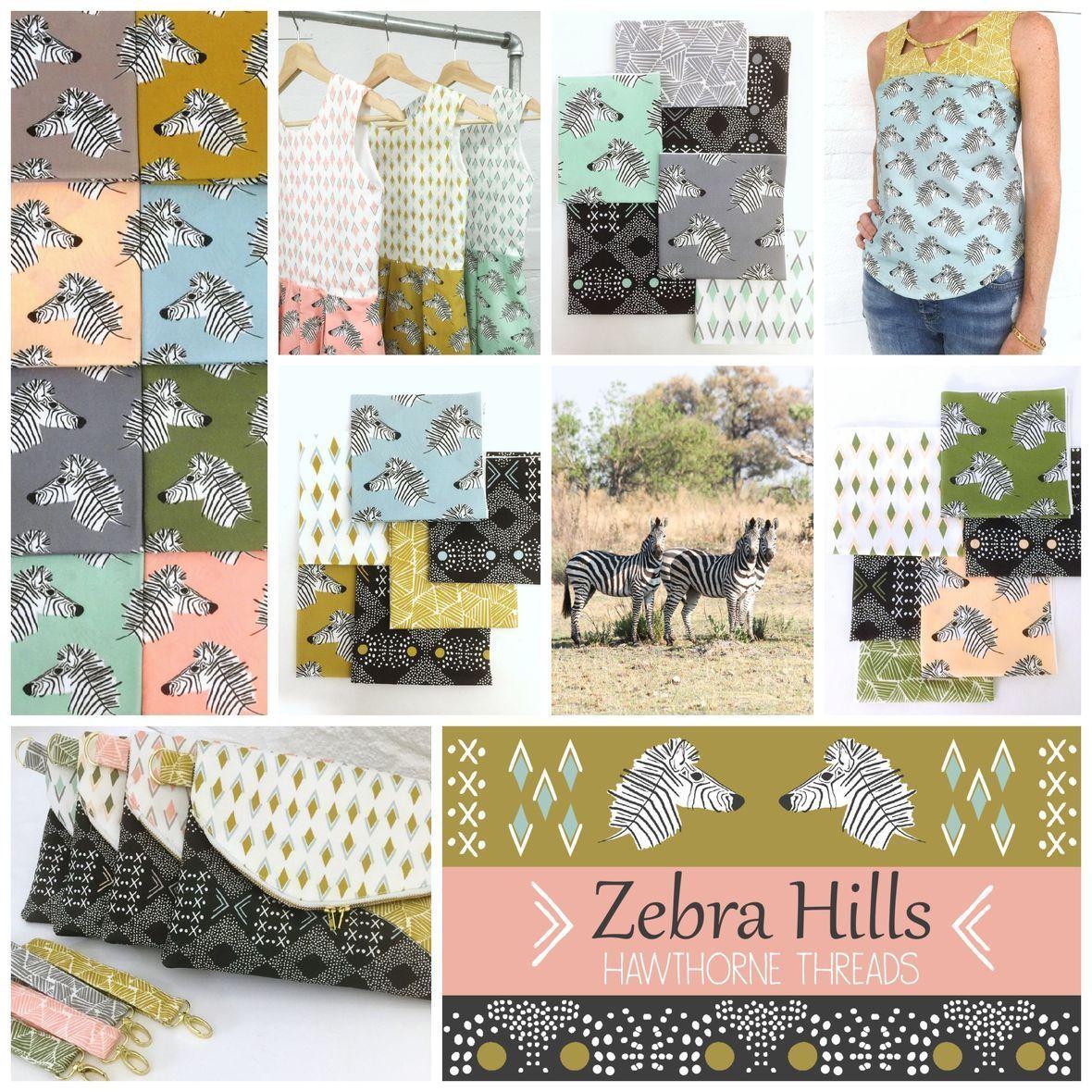 Zebra Hills Fabric Poster 2800