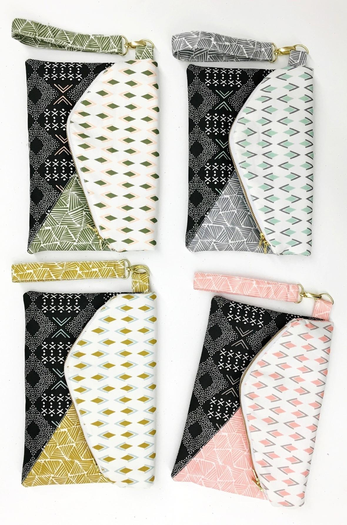 Zebra Hills Fabric Clutch - Copy
