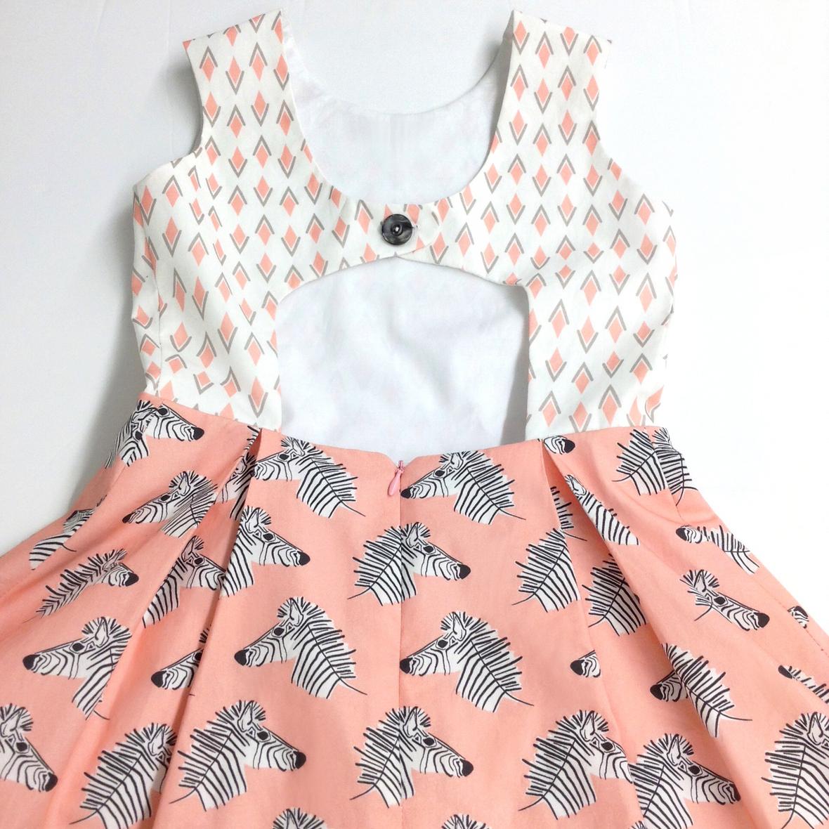 Rebel Party Dress in Zebra Hills Fabric