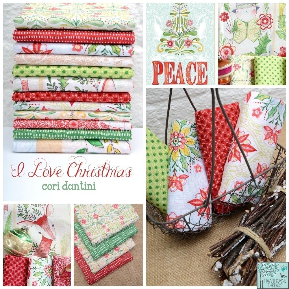 I Love Christmas Fabric Poster