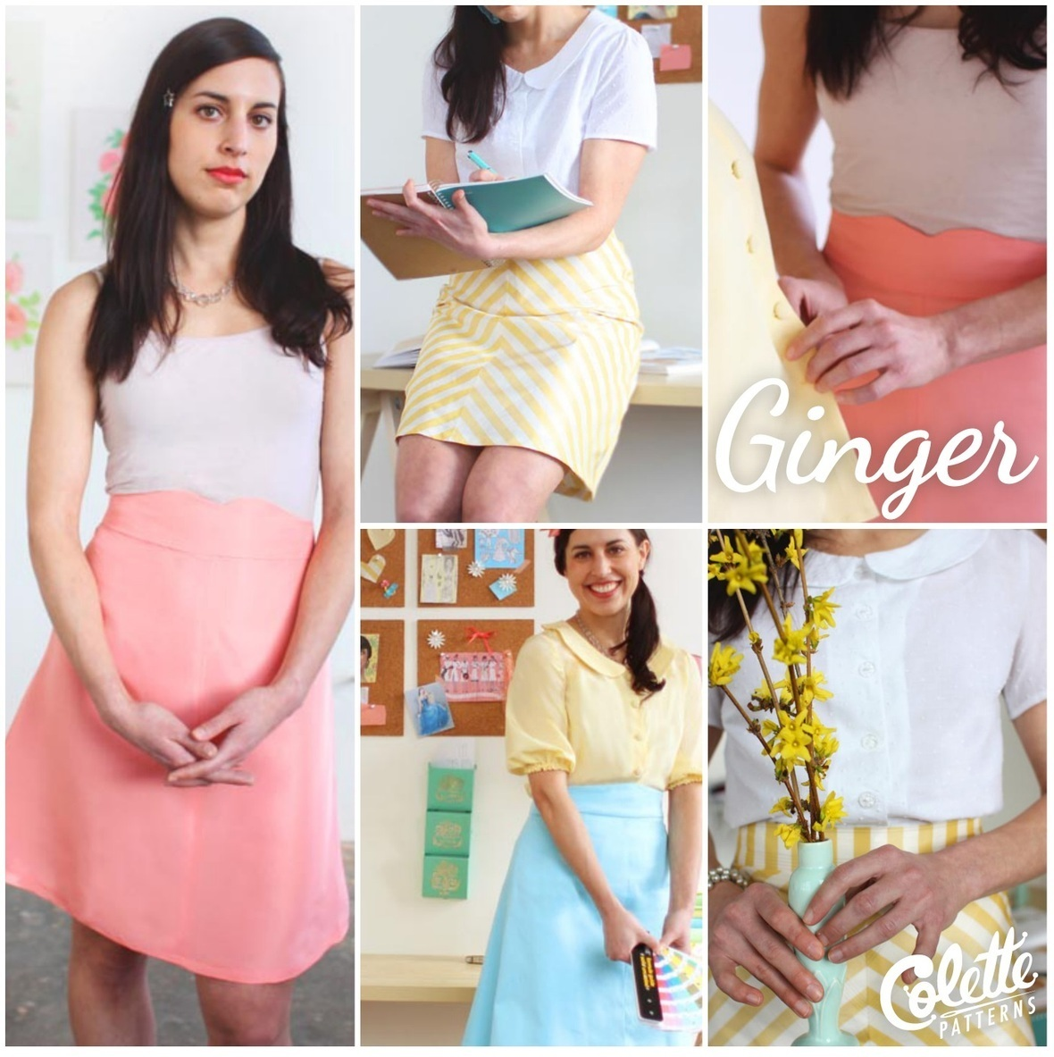 colette patterns ginger skirt sewing pattern