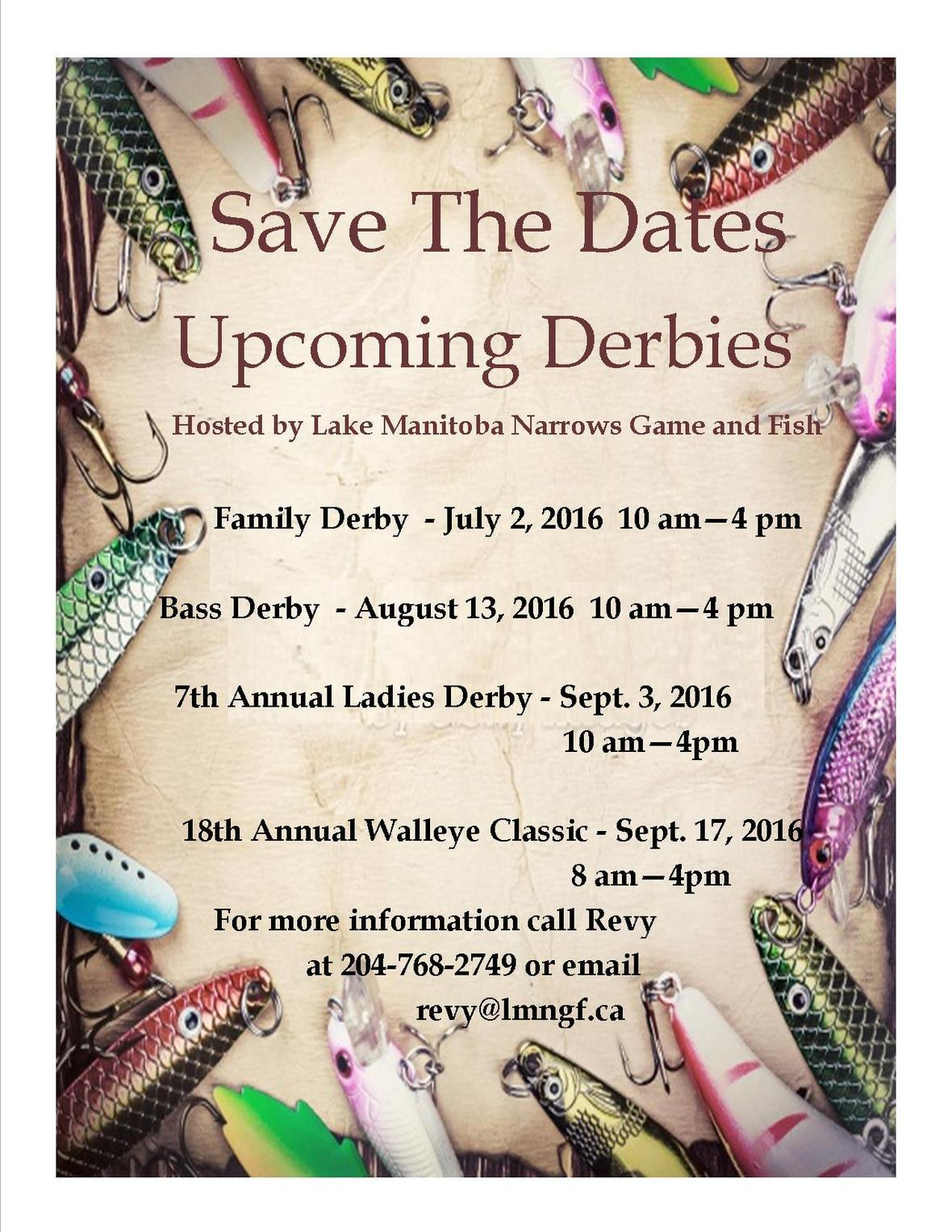 Save the date 2016 Derbies