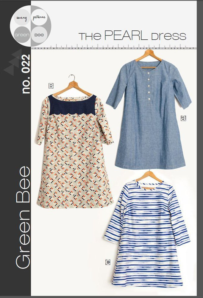 green bee design pearl dress sewing pattern