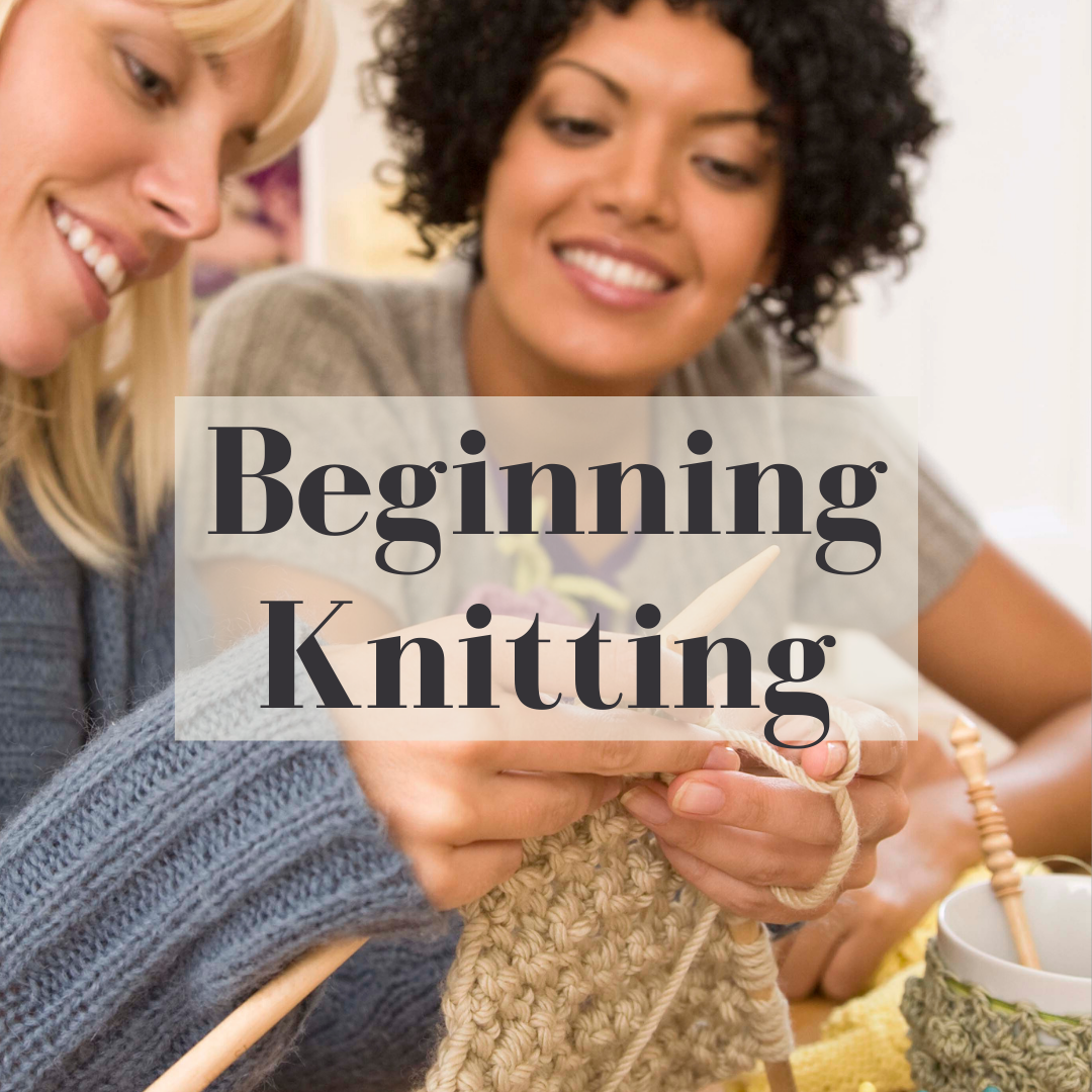 beginning knitting square