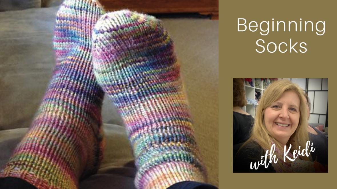 beginning socks keidi 1