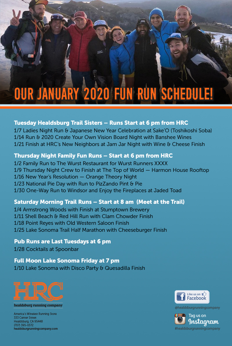 Jan 2020 run schedule newslettter
