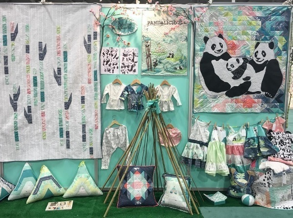 Pandalicious Quilt market booth