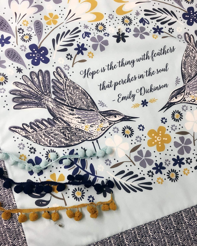 Blackbird Fabric Panel