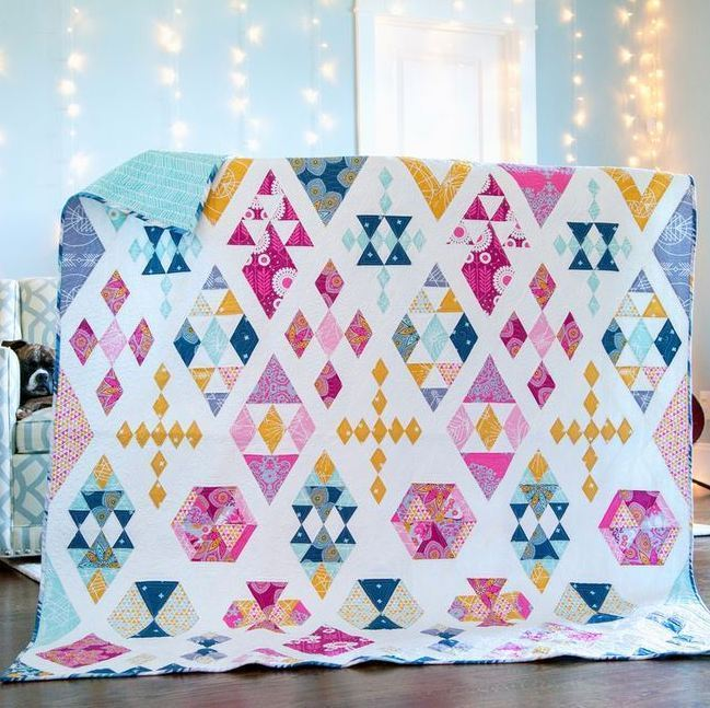 joel dewberry floating diamonds quilt kit sewing pattern