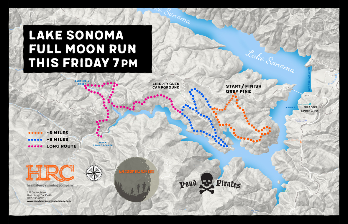 Lake sonoma full moon grey pine map
