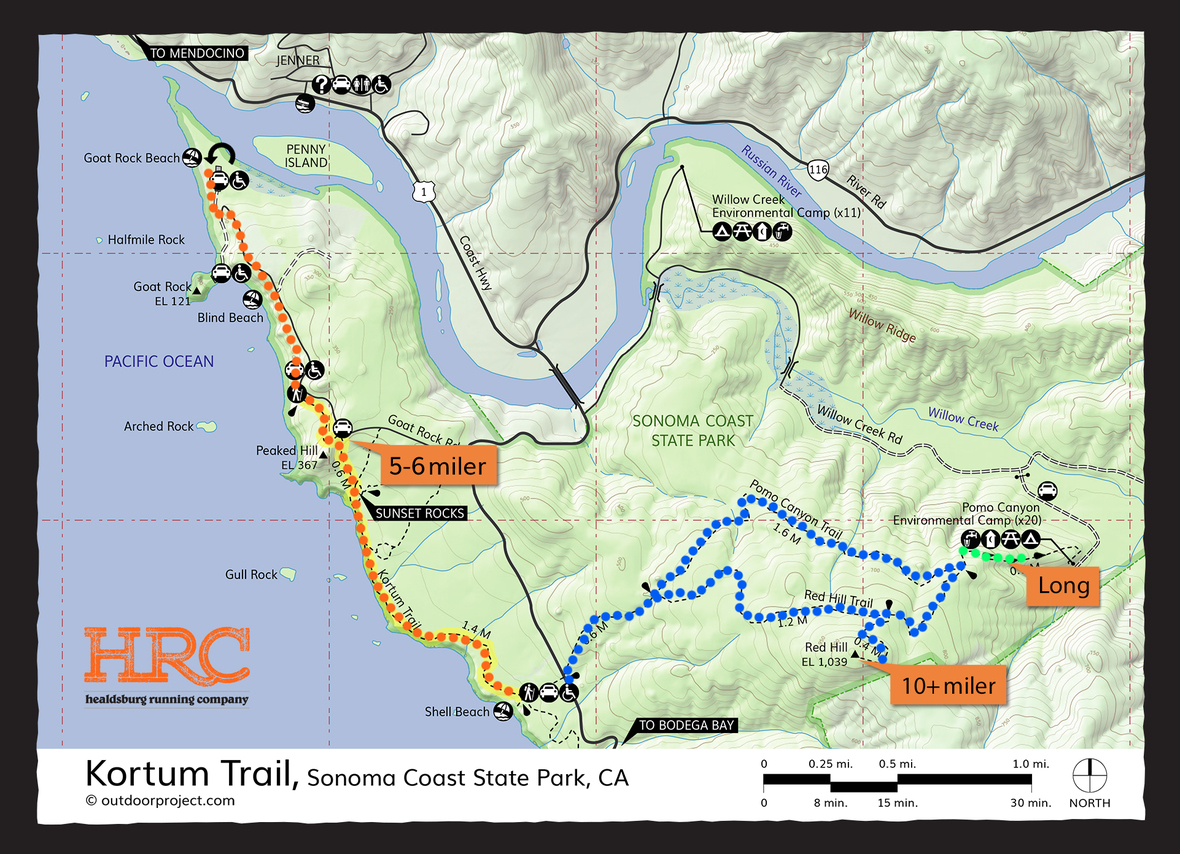 kortum trail shell beach map