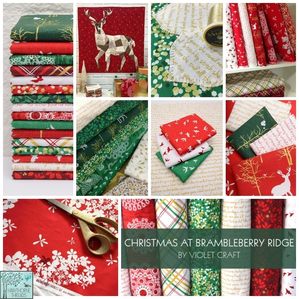 Brambleberry Ridge Christmas Fabric Poster