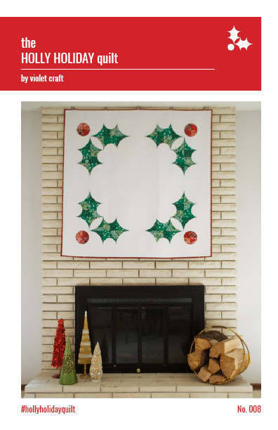 violet craft holly holiday sewing pattern