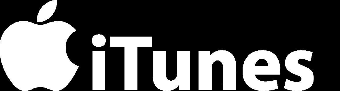 logo itunes blanc