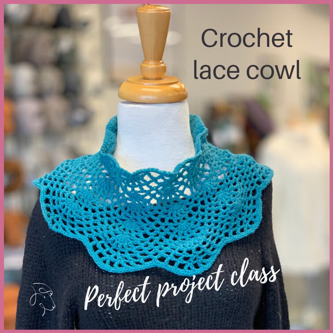 Crochet lace cowl ig