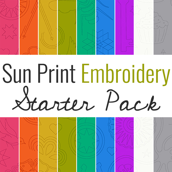 Sun Print Embroidery Pack