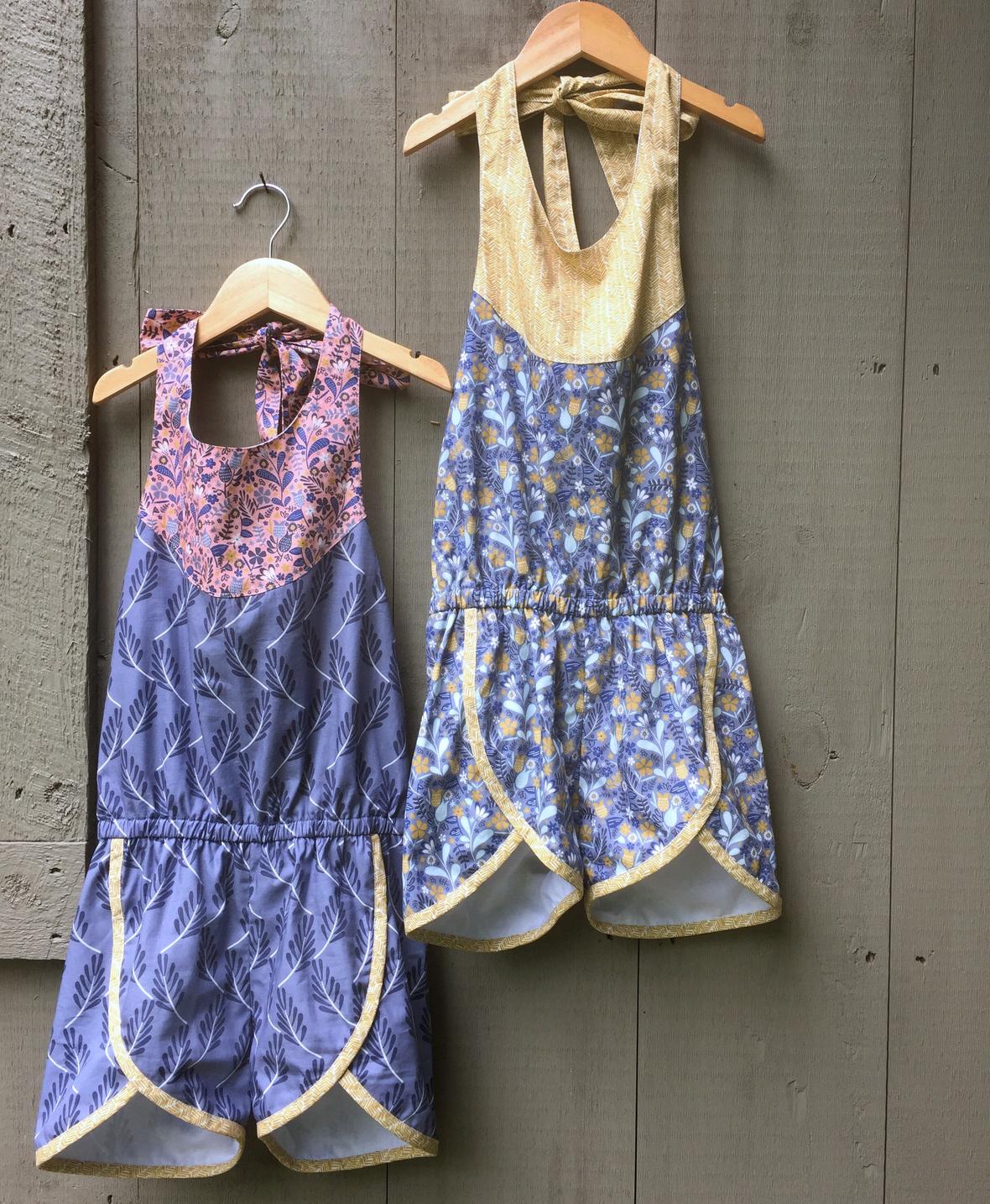 Blackbird Fabric Girls Romper