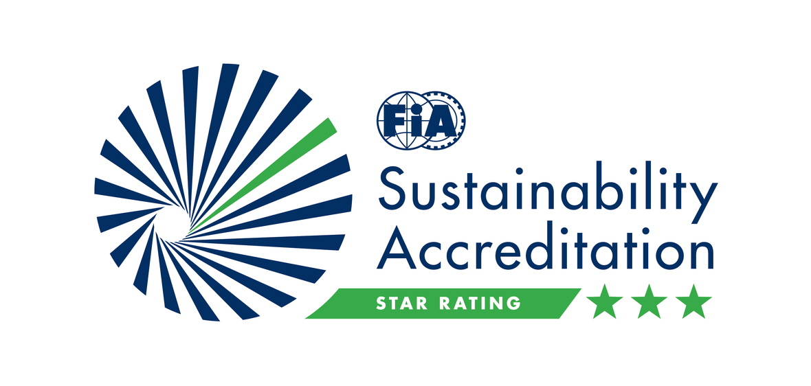 FIA DEFLOGO SustainabilityAccreditation RGB Pos 3Star