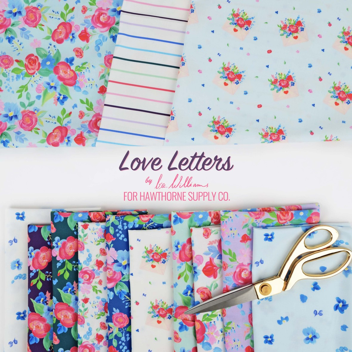 Love Letters Fabric Poster Bec Williams for Hawthorne Supply Co