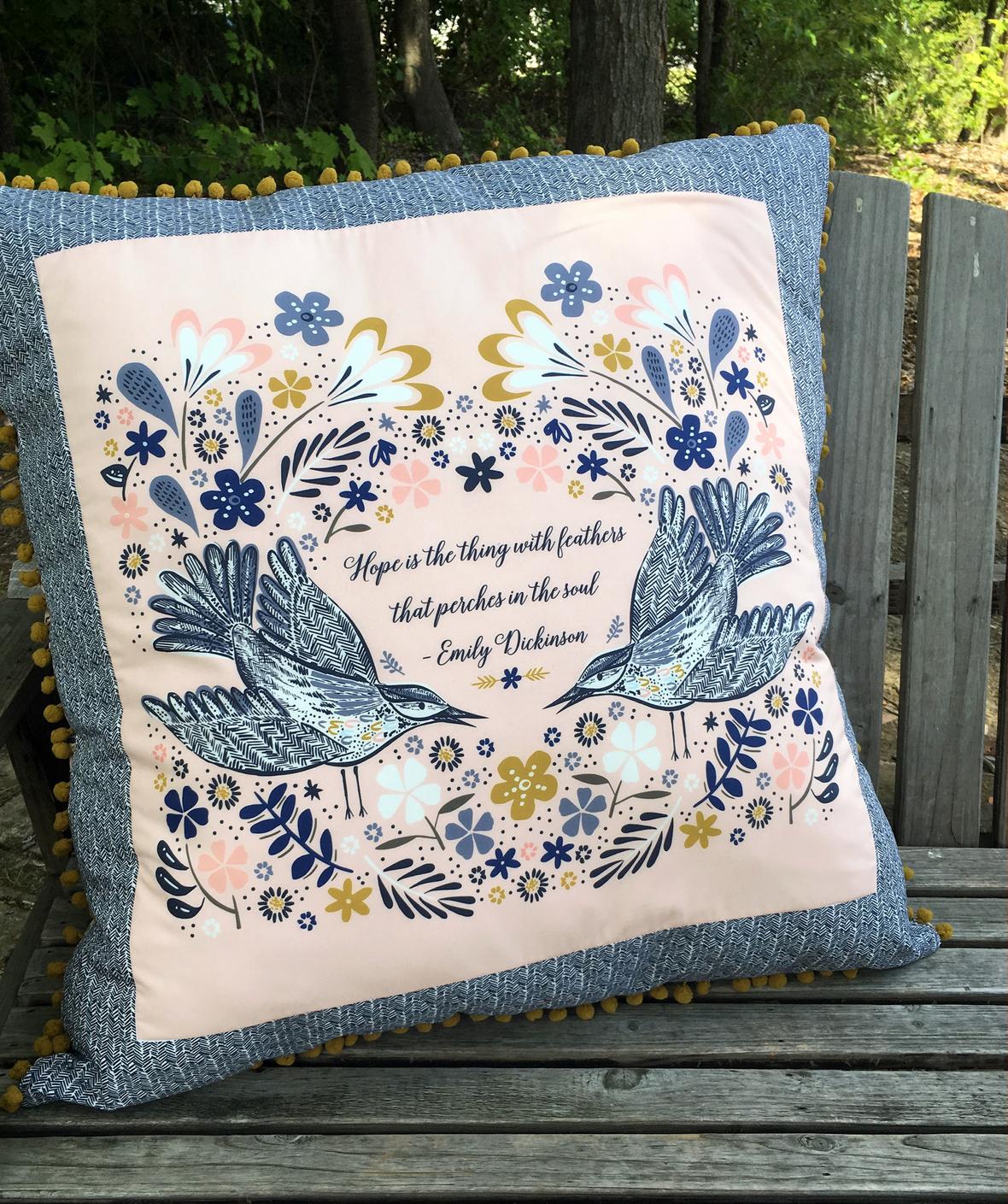Blackbird Pillow Project in Shell smaller