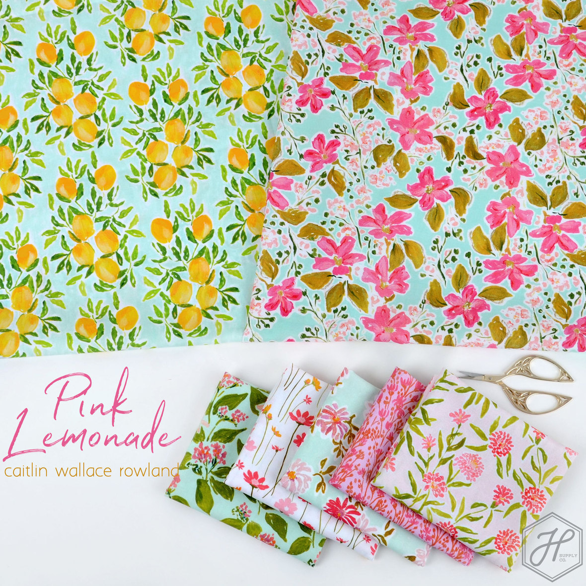 Pink-Lemonade-Fabric-Caitlin-Wallace-and-Dear-Stella-for-Hawthorne-Supply-Co