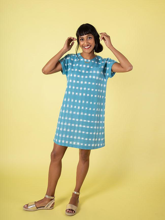 Stevie blue tunic dress 1