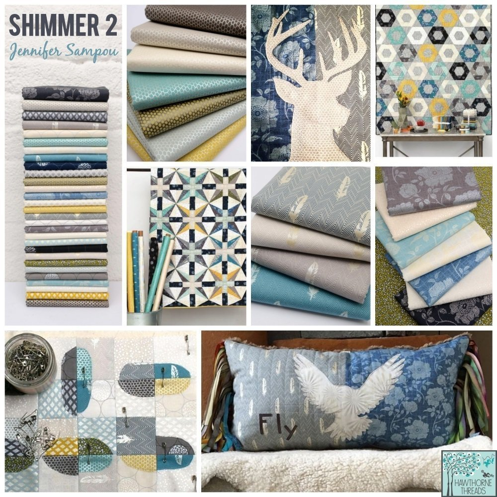 shimmer fabric poster