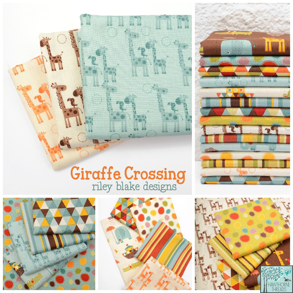 Giraffe Crossing Fabric Poster