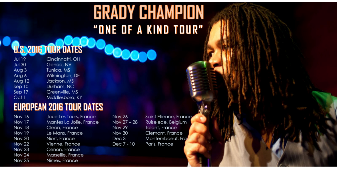 GC One of A Kind Tour Dates