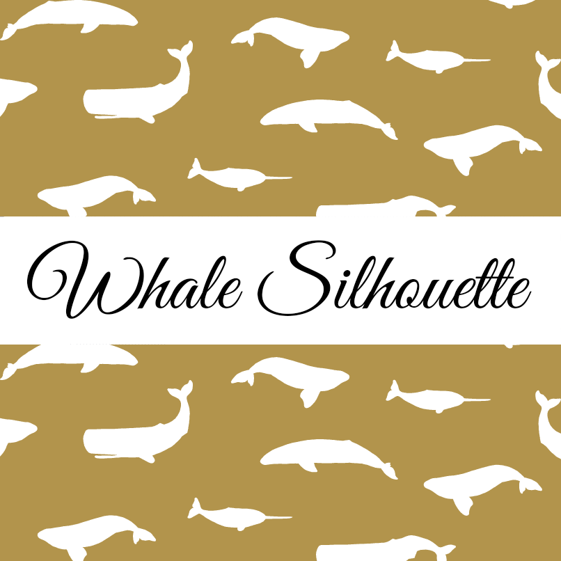 Whales Silhouette Without Dots