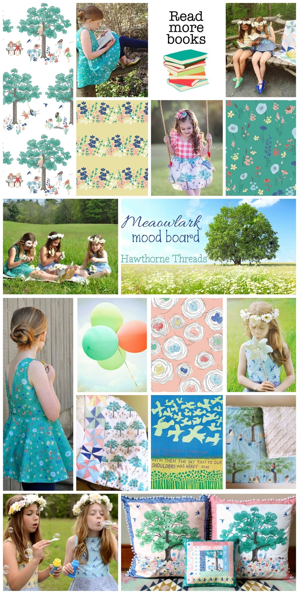 Meadowlark Inspiration Collage
