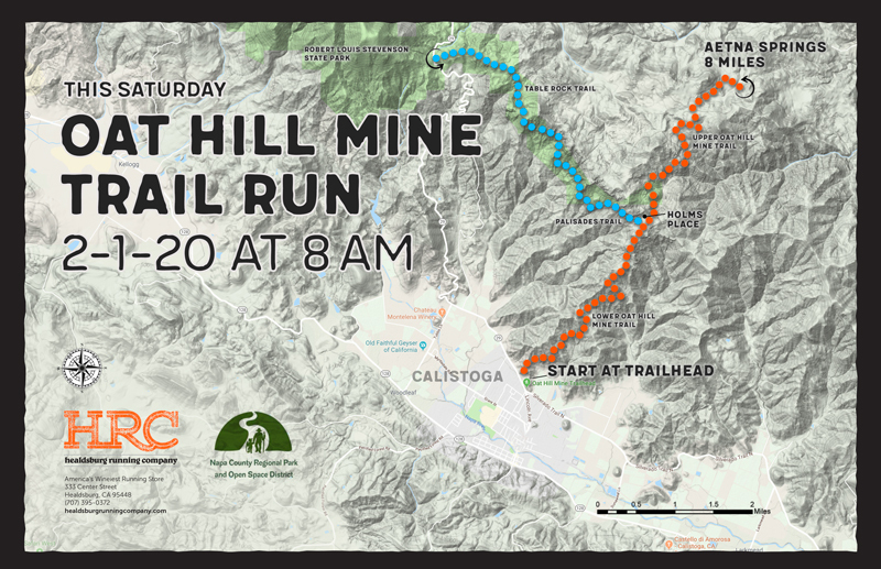 oat hill mine trailhead map