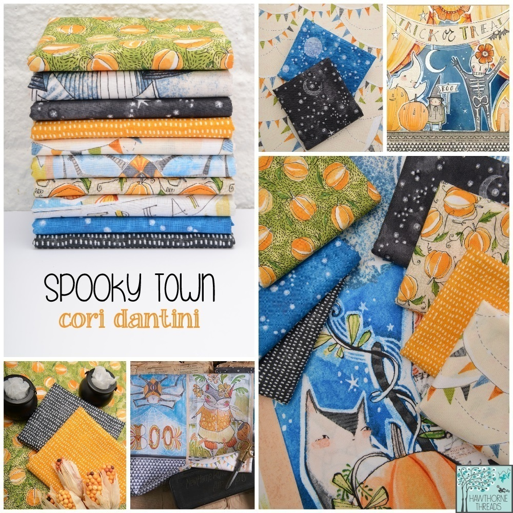 Spooky Town Fabric Poster