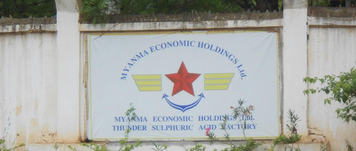 33207268 sign-outside-the-umehl-moe-gyo-sulphuric-acid-factory -myanmar