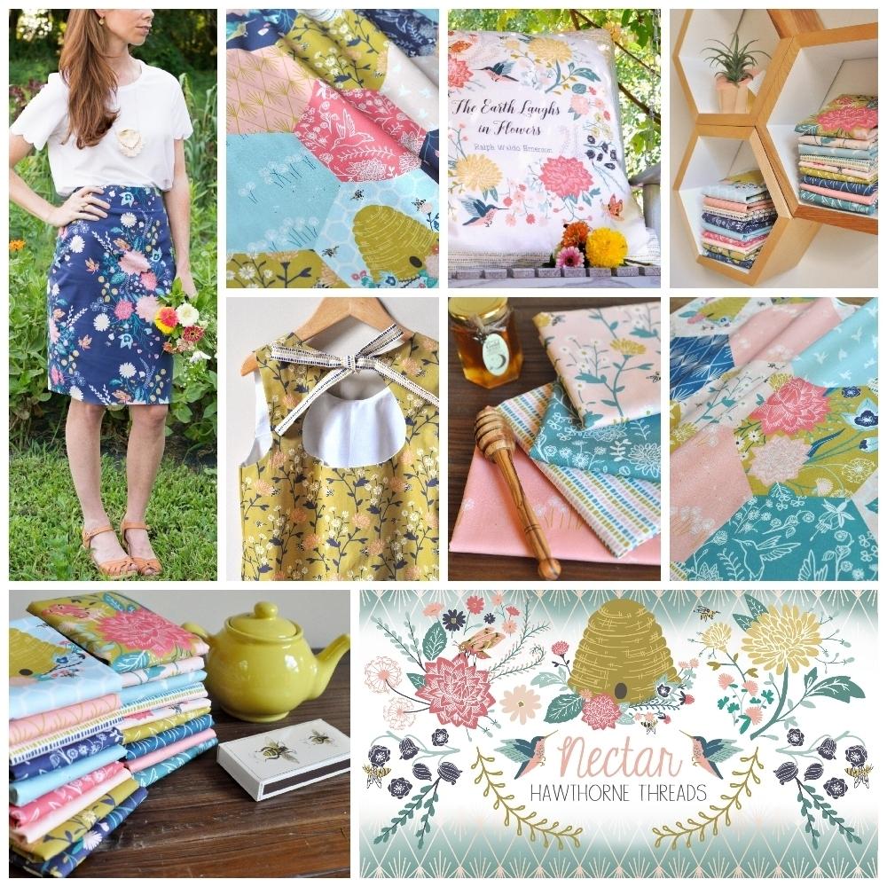 Hawthorne Threads Nectar Fabric Poster