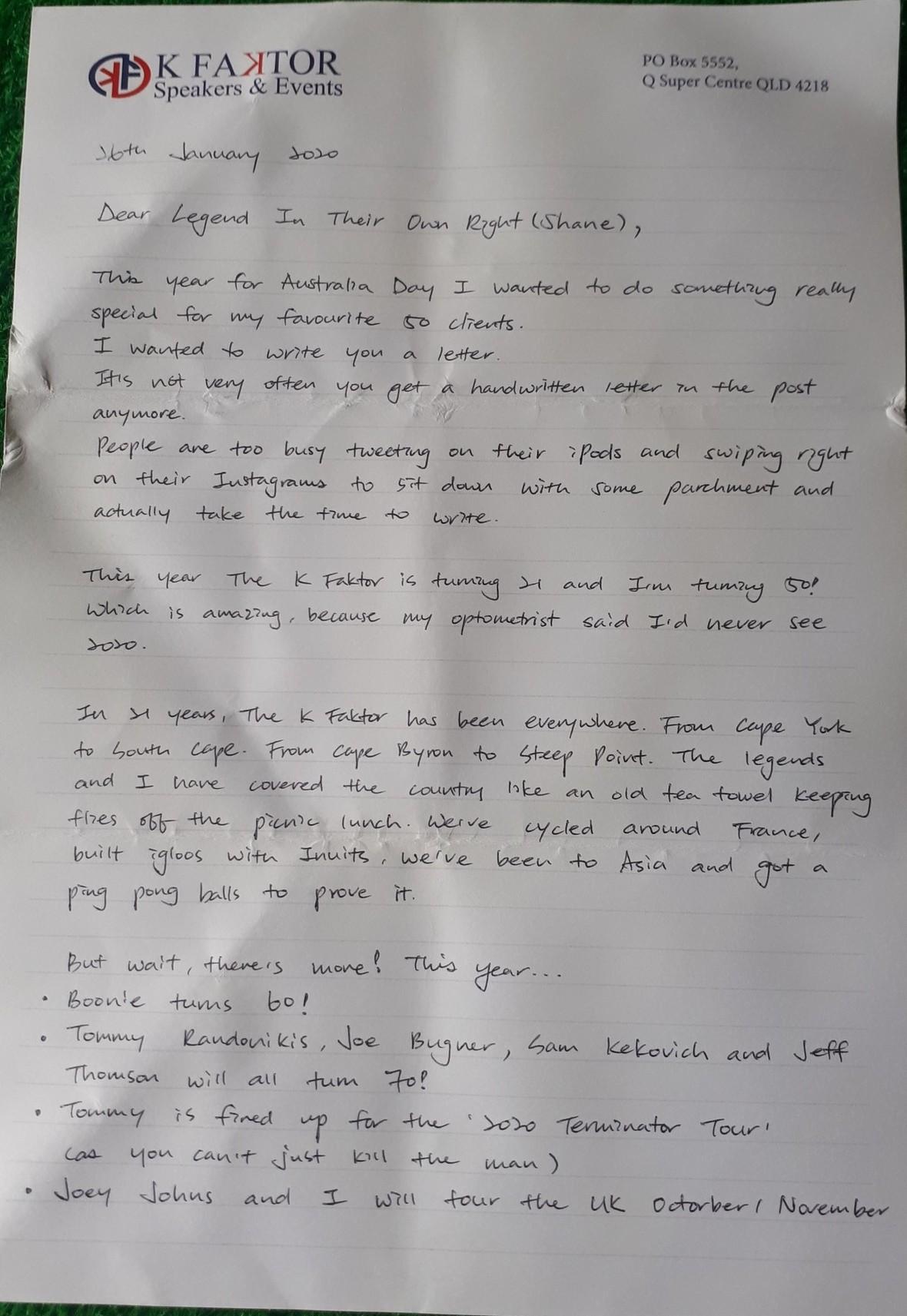 hand written letter aust day 2020 p1