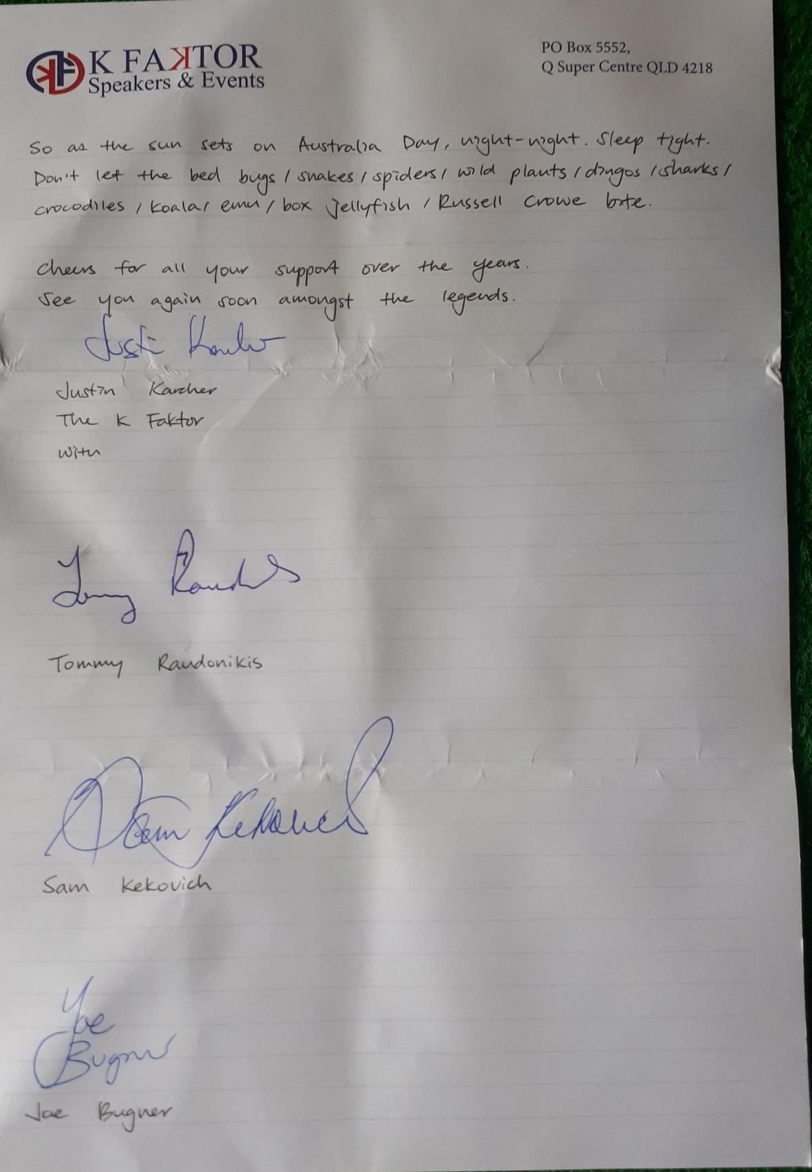 hand written letter aust day 2020 p2