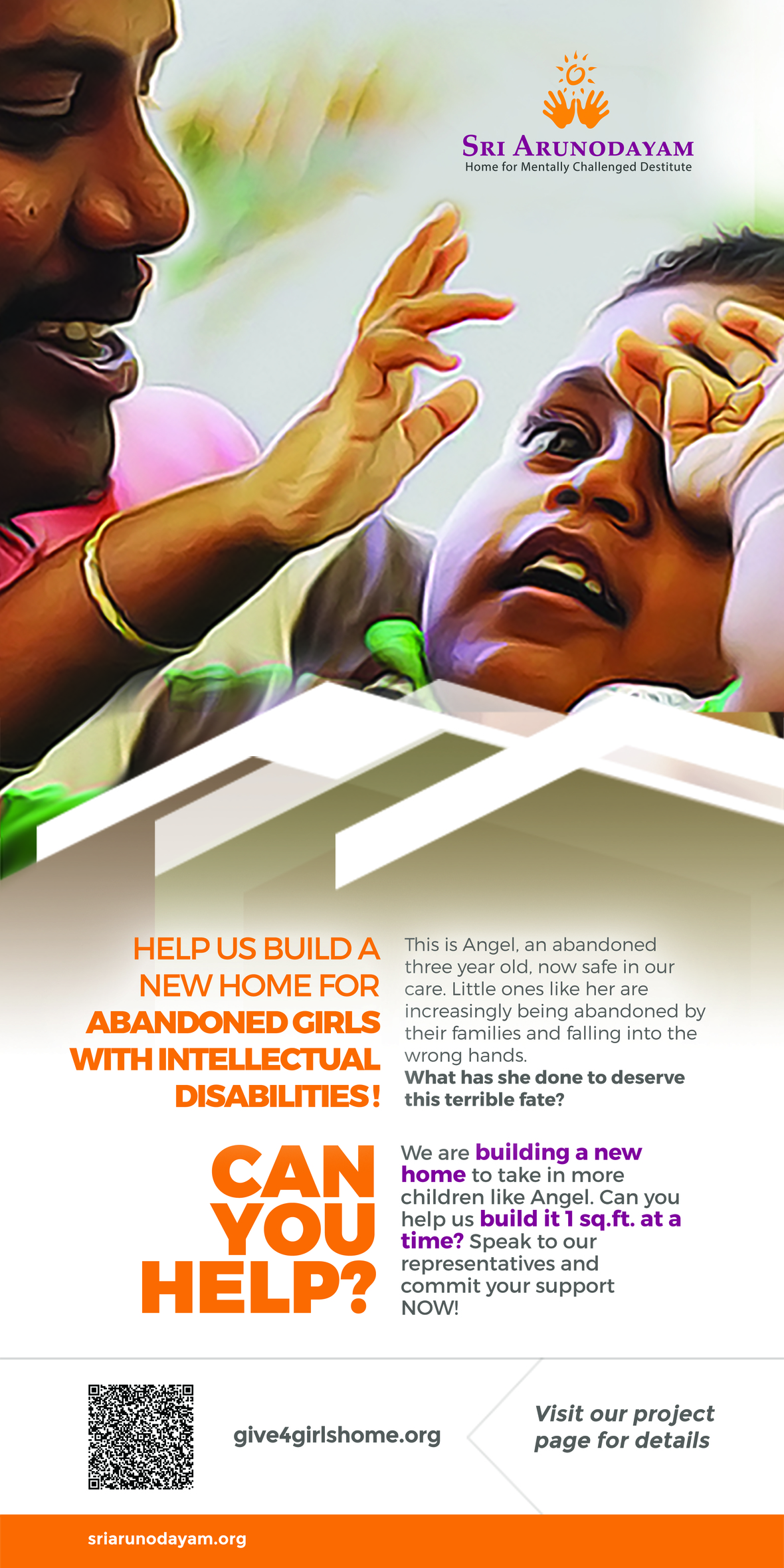 3x6 Sri Arunodayam Build Home standee banner 5