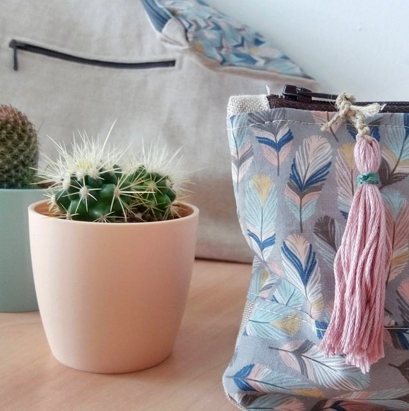Mojave Fabric Zip Pouch